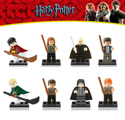 8 Pcs Harry Potter Mini Figures Gift Set Minifigure Fits Lego party bag filler