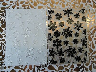 Christmas Embossing Folder Suits Sizzix or Cuttlebug - All Over Snow Flakes