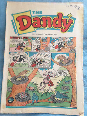 Dandy Comic No 1485 May 9th 1970 Vintage UK Korky the Cat, Desperate Dan