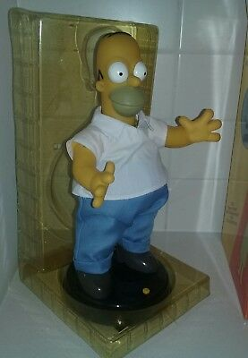 """The Simpsons Rare 2002 mint Large 14"""" Talking and Dancing Homer Simpson"""