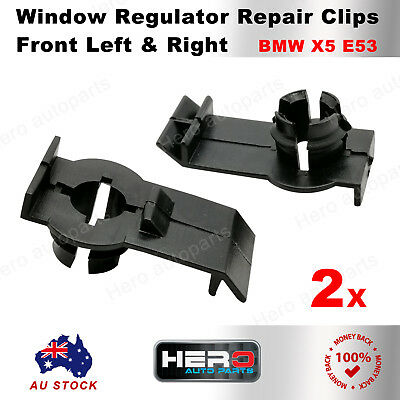 2 x Front Left & Right Window Regulator Clip For BMW X5 E53 00-06 51338254781