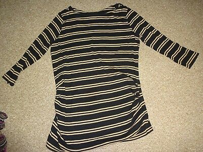 Ladies Maternity Clothes Size 14 Medium - Pregnancy Casual Striped Jumper Top