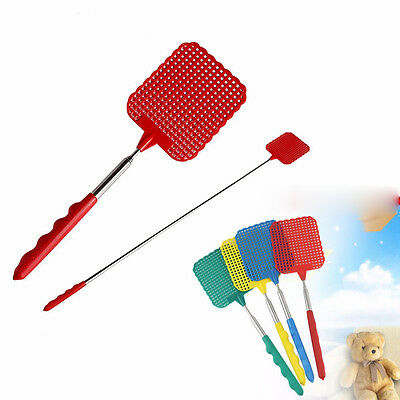 Telescopic Swatter Flyswatter Extendable Handle Insect Fly Swat Killer Tool