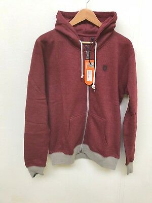 Unsung Hero Men's Islington Full Zip Hoodie - Various Sizes - Burgundy - New