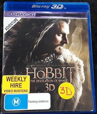 Hobbit -Desolation of Smaug  -  (Blu-ray:3D,  2014) Region 4
