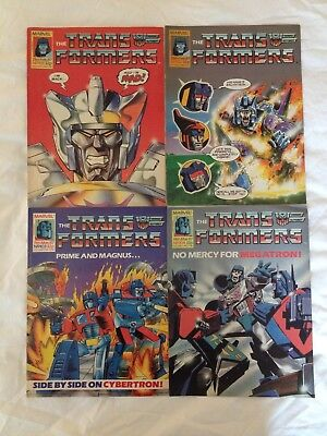 TRANSFORMERS BRITISH WEEKLY Nos 101, 102, 103, 104 MARVEL UK COMIC 1987