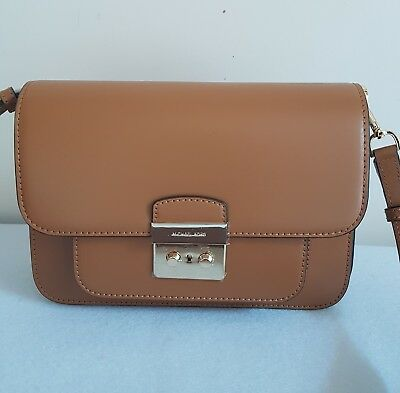 5ae8afffeafc76 AUTH MICHAEL KORS Sloan Editor Acorn Luggage Large Leather Shoulder Bag &2  strap