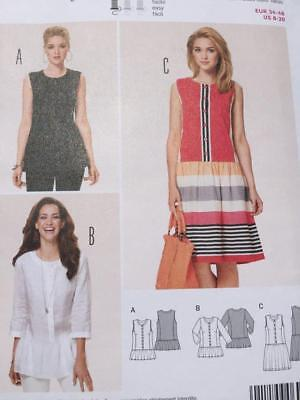 BURDA SEWING PATTERN 6912 Ladies Misses Semi Fitted Dress Blouse ...