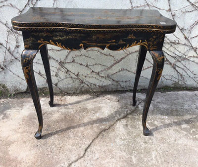 Lacquered and Gilded Oriental Gaming Table