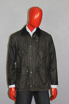 Mens Barbour Upperford Waxed Jacket Black Size L