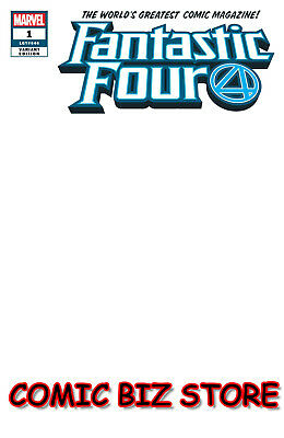 Fantastic Four #1 (2018) 1St Printing Blank Variant Cover Bagged & Boarded