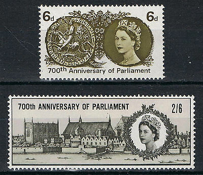 SG663-664 1965 PARLIAMENT 2v Unmounted Mint