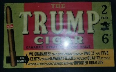 REDUCED The Trump Cigar Advertisement - Canada's Greatest - W.R. Webster