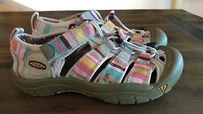 381e8f9b7357 KEEN SUNPORT GIRLS Sandals Size 3 Youth Multi Color Rubber Shoes ...