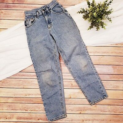 Vintage LEE Boys Loose Fit Blue Denim Jeans Size 12 Slim Made in USA 100% Cotton