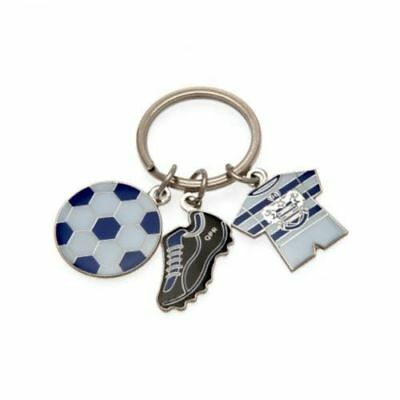 Queens Park Rangers FC KEYRING 3 CHARMS Ball, Strip, Boot  OFFICIAL  GIFT