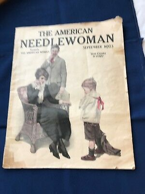 Antique Magazines, American Needlewoman, 1923
