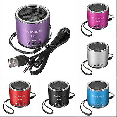 Cute Mini Speaker Amplifier FM Radio USB Micro SD TF Card MP3 Player Great