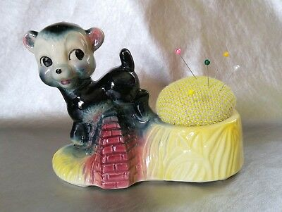 VTG Adorable Lamb Pincushion - One of a Kind Perfect for Stitchers + Crafters!