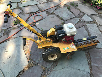 "Ground Hog T-4 Walk Behind Trencher, 18"" Trencher, Honda Gas Engine"