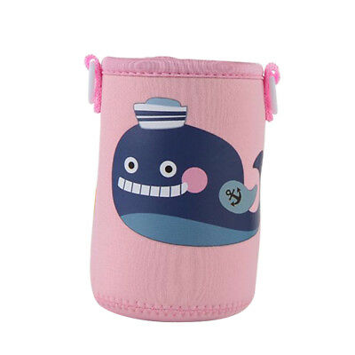 Baoblaze Pink Whale Insulated Water Bottle Sleeve Drink Bottle Cover Kids
