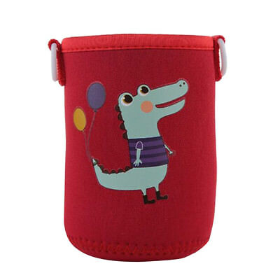 Baoblaze 500ml Water Bottle Bag Sleeve Cup Cover Insulator,Red Crocodile
