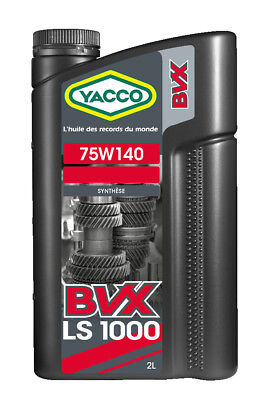 Yacco BVX 75W-140 Gear Limited Slip Differential 100% Synthetic Oil 2 Liters