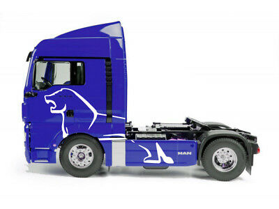 1/14th Tamiya RC Tractor Truck MAN TGX angry Lion style vinyl decals