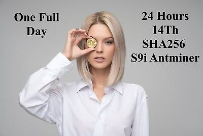 24 Hour Bitmain S9i-14TH/s Antminer Mining Contract for Bitcoin - SHA256