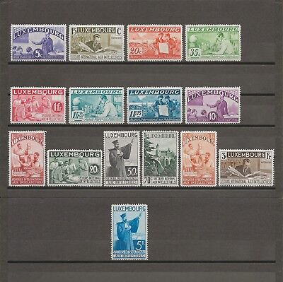 """LUXEMBOURG 1935 """"Intellectuals"""" SG 324/38 MINT Cat £865"""