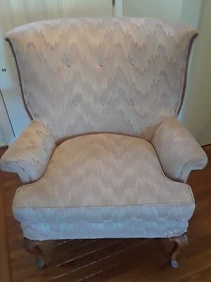 Vintage Wing Back Chair (Local Pick-Up Only)