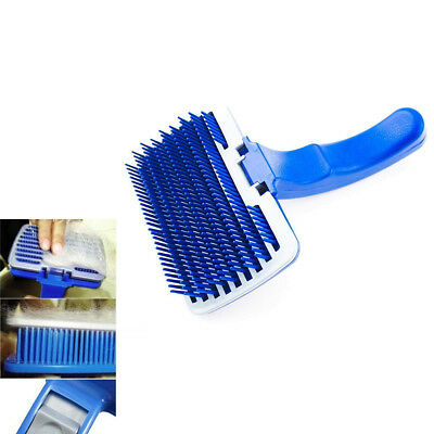 Dog Cat Grooming Self Cleaning Slicker Brush Comb Shedding Hair Fur Tool Fast US