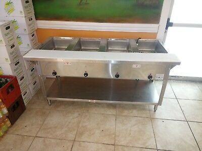 "Advance Tabco HF-4E-240- 62"" Electric 4 Well Hot Food Table with drain 240v"