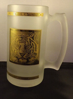 Siegfried and Roy at the Mirage Stein. Very Heavy Glass.