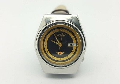 VINTAGE CITIZEN Automatic Day/Date WATCH, Japan made, used. (w-115)