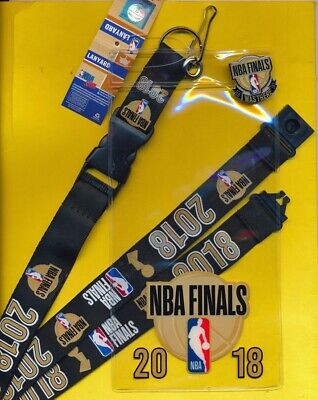 2018 Nba Finals Warriors / Cavaliers Ticketholder, Lanyard & I Was There Pin