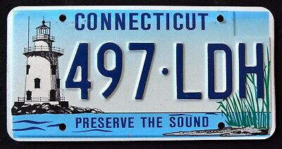 "CONNECTICUT "" LIGHTHOUSE PRESERVE THE SOUND "" CT Specialty Graphic License Plate"