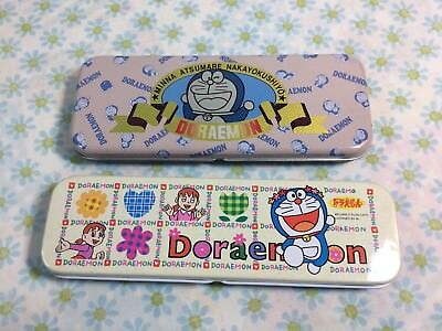 Doraemon Tin Pencil Cases Fujiko Japan Stationary Kawaii Anime Cute Blue Cat