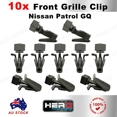 Front Grille Clips For Nissan Navara Patrol GQ Y60 Ford Maverick MQ Set Of 10
