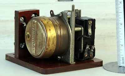 Vintage 1963 Synchron Electric Clock Motor / Rotor Assembly