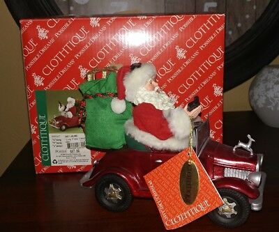 2007 Clothtique Possible Dreams GPS Santa Going Places Santa Dept 56