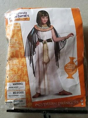 O NEW Child California Costume Egyptian Princess Halloween Costume Size M