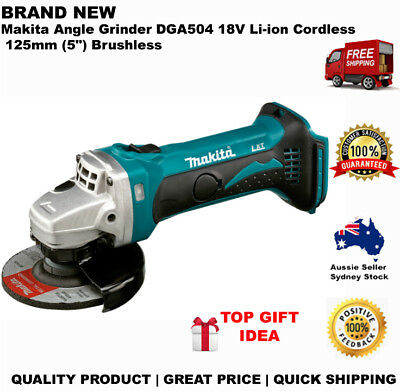 "Makita Angle Grinder DGA504 18V Li-ion Cordless 125mm (5"") Brushless"