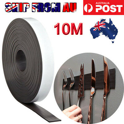 NEW 5M/10M Strong Magnetic Magnet Sheets Self Adhesive Roll Tape Rubber Strip OZ