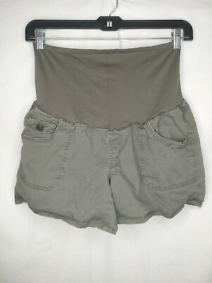 first kick maternity xl shorts green stretch over the belly panel
