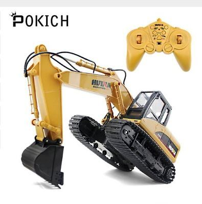 Pokich 1:14 RC Truck Excavator Remote Control Crawler Tractor 15 Channel 2.4G Co