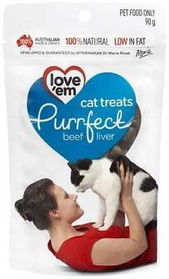 Love 'Em Purrfect Beef Cat Treats - 90g
