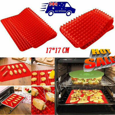 Silicone Pyramid Pan Non-stick Baking Mat Mould Cook Sheet Oven Liner Tray  Au