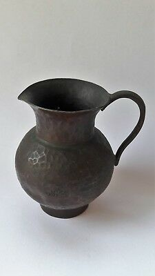 unusual ancient Vintage Antique brass nostalgic jodaism jug,1950 israel made