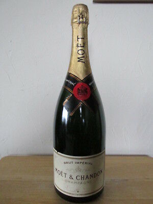 """Display Only Moet & Chandon Champagne Brut Imperial Dummy Bottle 15.5"""" Date 1743"""